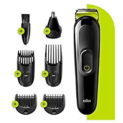 Rechargeable all-in-one trimmer with unprecedented cutting performance vs. previous generations of Braun beard trimmers 6-in-1 beard trimmer, face and hair trimmer for men's grooming Lifetime Sharp Blades and 13 length settings for utmost styling pre...
