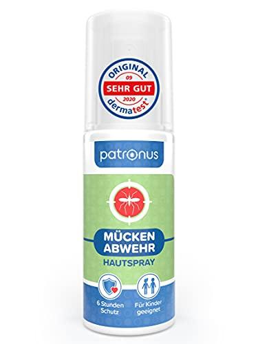 Patronus Mückenspray ohne DEET mit pflanzlichem Wirkstoff 100ml - effektiver Mückenschutz für Kinder & Erwachsene - Mücken Haut-Spray zur Mücken-Abwehr mit Eukalyptus-Geruch