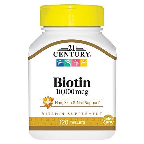 21st Century Biotin Tablets, 10,000 mcg, 120 Count
