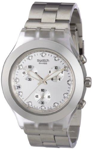 Swatch Diaphane Chrono - Reloj de Mujer de Cuarzo, Correa de Acero Inoxidable Color Plata