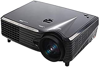 WXX Lin VS-508 Mini Projector 2000ANSI LM LED 800x480 VGA Multimedia Video Projector, Support VGA/HDMI/USB/TV Interfaces, Projecting Distance: 1-5m(Black) (Color : Black)
