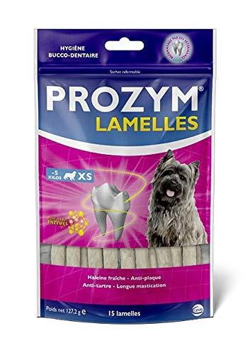 Prozym 15 Lamelles pour Chiens - Soin Dentaire à mâcher - N°1 chez Les vétérinaires - Haleine fraîche - Anti-tartre - Anti-Plaque - Gencives saines (XS)