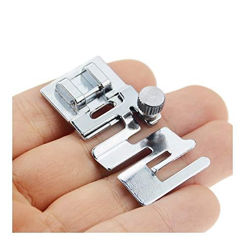 HSJWOSA Organizado 1pc Hogar Multi-Funcional del Cable Máquina de Coser eléctrica de la Banda de Tejido elástico de Costura Accesorios Pieza de máquina prensatelas Ventajoso (Color : Silver)