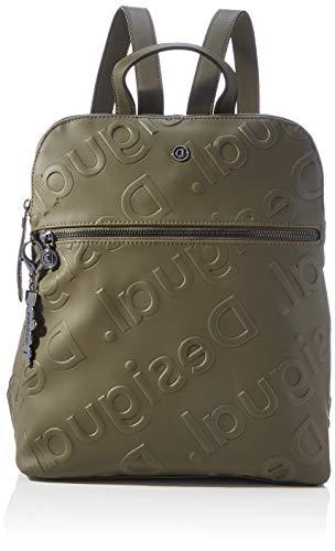 Desigual Accessories PU Backpack Medium, Zaino Donna, Verde, U
