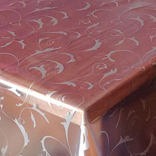 DecoHomeTextil d-c-fix Transparente Folie 0,2mm Barock Paradiso Breite & Länge wählbar abwaschbare Tischdecke Eckig 120 x 220 cm