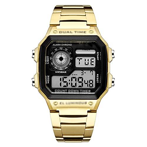 WTYU Relojes Pulsera, Reloj Cuadrado Digital, Negocios Simple Y De Moda Multifunción Impermeable Cronómetro a Prueba De Agua Alarma Reloj Electrónico Reloj D