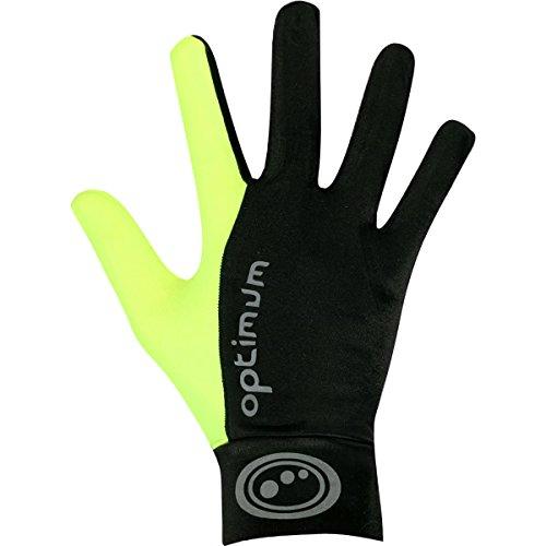 OPTIMUM, Orrell, Lauf-Handschuhe für Herren L Black/Fluorescent