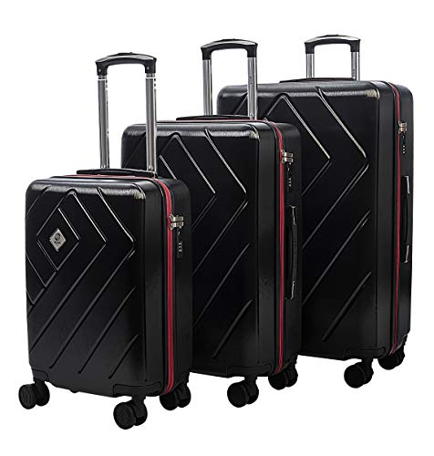dEXEb Luggage Set - Durable 3 Piece Sets with 360° Rotate Double Wheels + TSA Accepted Lock   Stylish Travel Set - RyanAir Ready   Great for air Travel, Road Trips, or Business