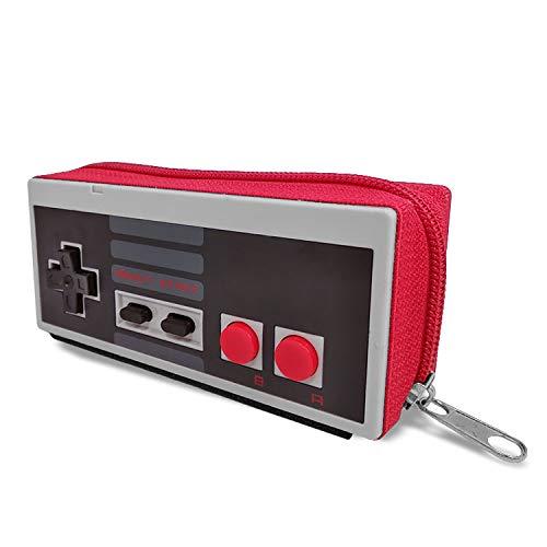 Mancha de Creación - Monedero de Mando NES, Cartera Retro Consola Gris,...