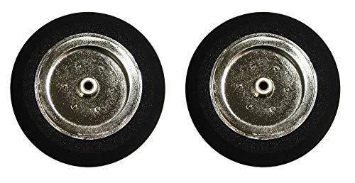 Arkai Neumático con llanta cromada de latón con casquillo de latón para soporte de aterrizaje de 3 mm, 58 mm, tamaño 40 mm