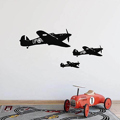WERWN Aviones Militares Militares Pegatinas de Pared aviación niño Dormitorio decoración de la Pared decoración de los niños