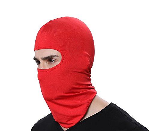 GAMWAY Ski Mask Balaclava Hood Skullies Beanies Outdoor Sports Cycling Hat (Red)
