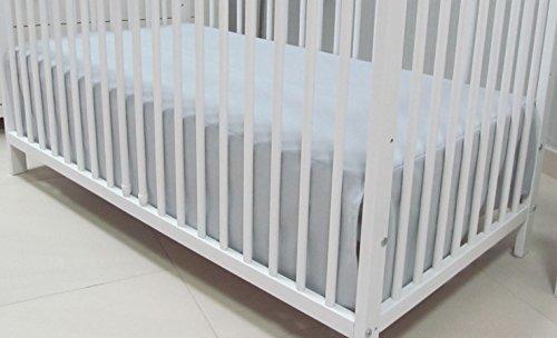 Babymajawelt® Bettvolant Betthuse Spannbetttuch Baumwolle Spannbettlaken für Babybett 70x140 oder 60x120cm (70x140, grau)