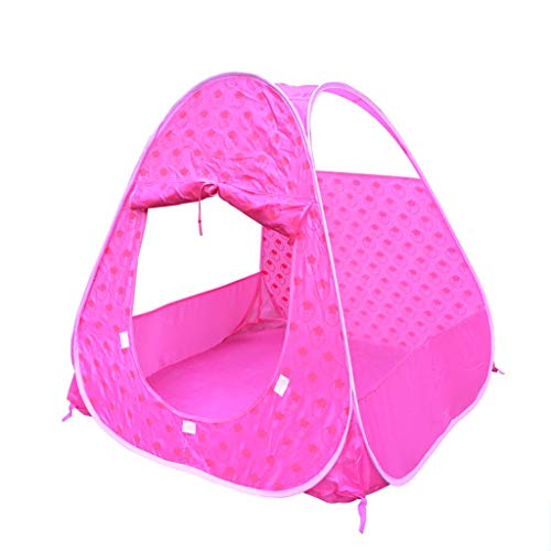 CSQ Pink Children's Game Tent,pop Up Tent With Cute Pink Strawberry Pattern, Girls Dream Tents Kids Playhouse 95 * 90CM Children's play house (Color : Pink, Size : 95 * 90CM)