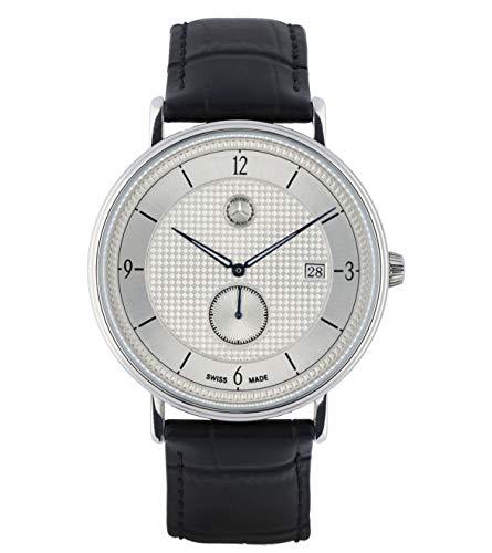 Mercedes-Benz Collection 2020 Armbanduhr Herren, Classic kleine Sekunde, silberfarben/blau