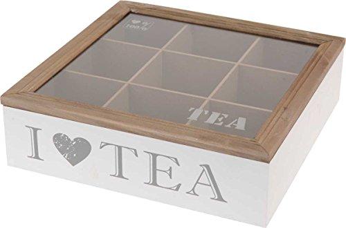 Eliware Teebox 'I Love Tea' mit 9 Fächern
