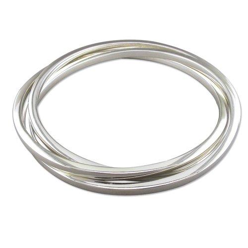 Armreif Sterling-Silber 925 quadratisch Russisch