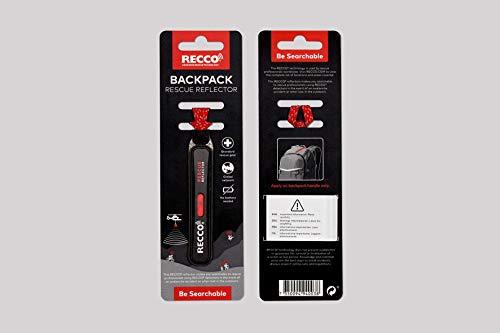 Recco Rettungs-Reflektor Black für RUCKSÄCKE Universal