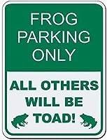 2個 カエルの駐車場は他のすべての人だけがヒキガエルになります!ブリキの看板金属板装飾看板家の装飾プラーク看板地下鉄金属板8x12インチ メタルプレートブリキ 看板 2枚セットアンティークレトロ