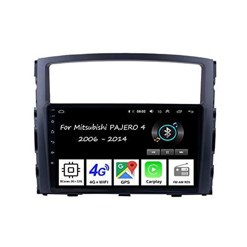 Autoradio Android Car Radio Stereo 9 Pulgadas Pantalla Táctil para Mitsubishi Lancer 10 2007-2012 4 Cores 2G+32G para De Coche Conecta Y Reproduce Autoradio Mit Bluetooth Freisprecheinrichtung