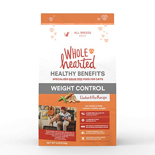 WholeHearted Healthy Benefits Weight Control Chicken and Pea Dry Cat Food