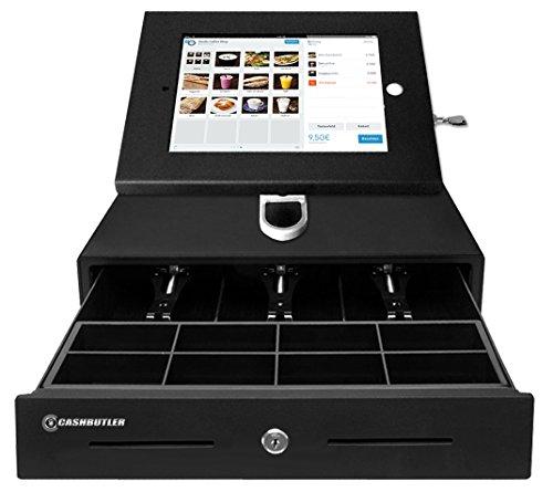CASHBUTLER iPad Kassensystem, Komplettes Kassensystem für Kleinen Preis mit Kasse, iPad Case, iPad Wand/Tischhalterung, Drucker und EC Kartenlesegerät mit Kassensoftware