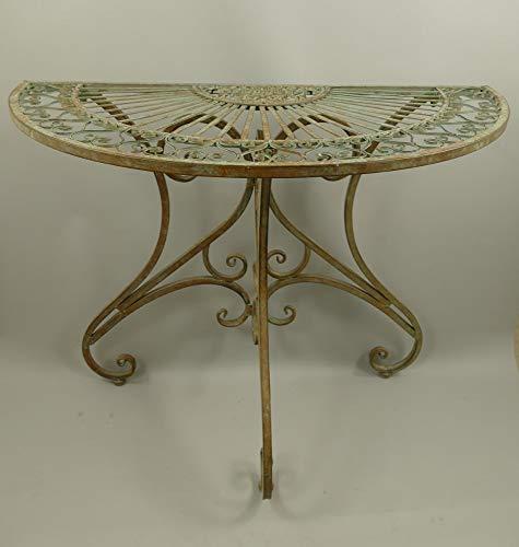 linoows Großer Garten Wandtisch, Halbrunder Anstelltisch, romantischer Gartentisch Eisen