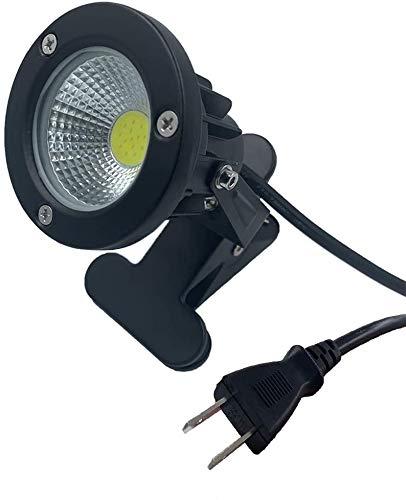 防雨 防水型 led クリップライト 7W 630lm コード長3m led ライト スポットライト 屋外 照明 看板用 黒板用照明 店舗看板用 店頭看板 LEDライト 電気スタンド デスクスタンド アームライト ピッコロライト アウトドア エクステリアライト (電球色7W)