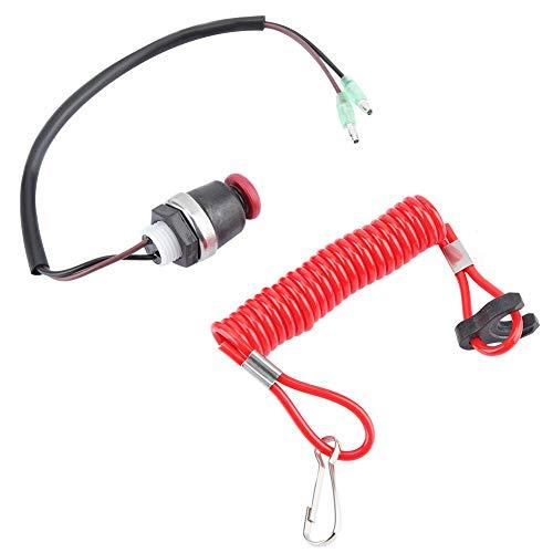Qiilu Außenborder Kill Switch Sicherheitsleine, Motor Zündung Kill Switch Kabel für Marine Mercury Tohatsu