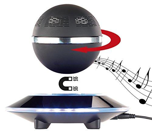 auvisio Schwebender Lautsprecher: Freischwebender Lautsprecher mit Freisprecher & 4.1 Bluetooth, 10 Watt (Kugellautsprecher)