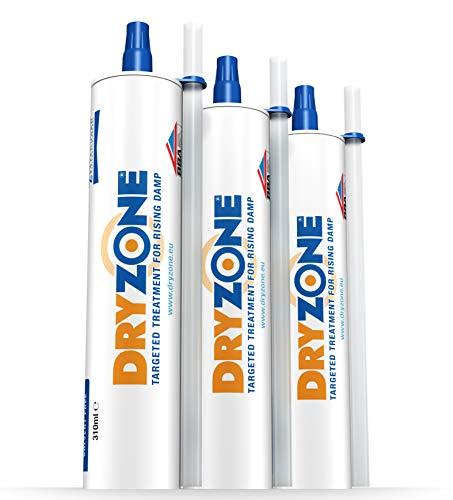 Dryzone Horizontalsperre Creme - Gegen Feuchte Wände und Aufsteigende Feuchtigkeit - WTA Zertifiziert 310 ml (3 Stück)