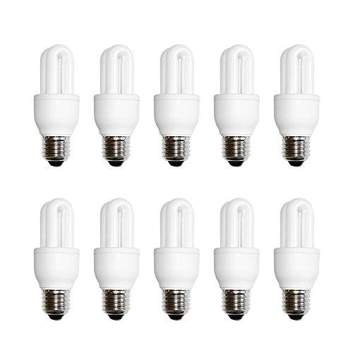 10 x näve Energiesparlampe Röhre 5W E27 ROT 830K 210lm Eco-Color