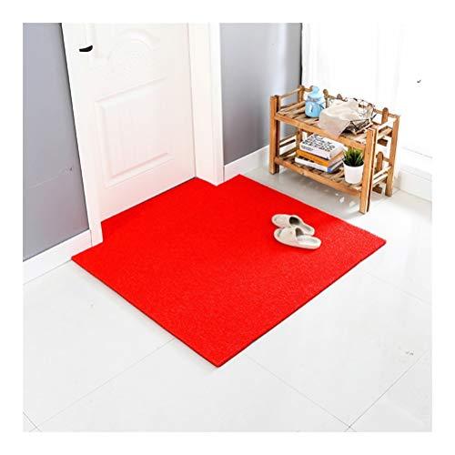 the teapot company Original Durable Mat Porta, Heavy Duty Pet Dog Zerbino, Interni Esterni, Impermeabile, Materiale PVC Easy Clean (Colore : Rosso, Taglia : 60x80cm)