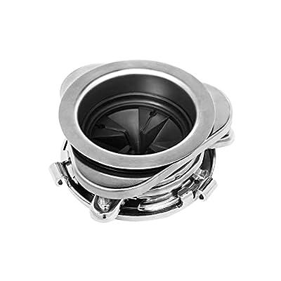 Garbage Disposal Flange, 3 Bolt Mount Stainless Steel Kitchen Sink Flange Kit with Splash Guard for 3-1/2 Inch Standard Sink Drain Hole, Sink Food Waste Disposer Installation kit