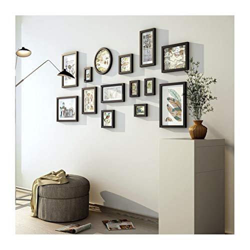 TAO Grande photo Frames Collage-Vintage en bois massif combinaison canapé fond minimaliste murale avec les instructions d'installation