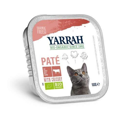 Yarrah cat kuipje wellness pate rund/chichorei kattenvoer 100 GR