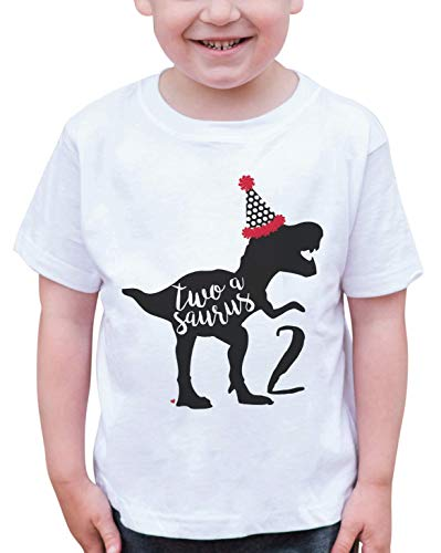 7 ate 9 Apparel Dino Two Birthday Dinosaur T-Shirt - http://coolthings.us