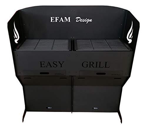 Efam Design Maxi Barbecue Easy Grill Double Barbecue de terrasse motorisé et piloté par Smartphone- Poids 215 kg - Code EAN 7061255671271 - REF : MAEAGR01