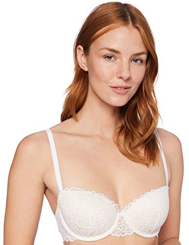 Amazon-Marke: Iris & Lilly Damen BH aus Spitze, Weiß (White/Sand Dollar), 85B, Label: 38B