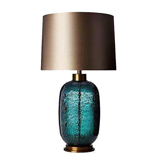 NINAINAI Lámpara D Noche Lámpara de Escritorio de Estudio de Dormitorio Moderno Americano Americano Simple Gris-Verde glaseado. Lámpara De Mesa Retro (Color : Natural, Size : 38x68cm)