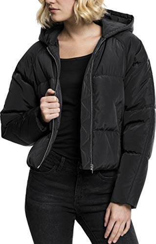Urban Classics Damen Ladies Hooded Oversized Puffer Jacket Jacke, Schwarz (Black 7), Medium