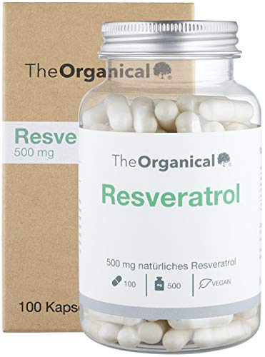 TheOrganical Trans Resveratrol Kapseln | 100 Kapseln mit 500 mg Premium Resveratrol | Hergestellt in Hamburg