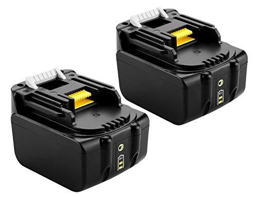 2 batterie di ricambio agli ioni di litio da 14,4 V, 4,0 Ah, 4000 mAh, per Makita BL1430, BL1440, BL1440B, con luci a LED