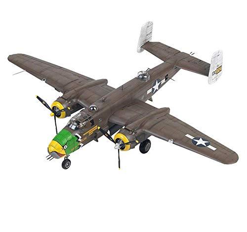 HKX Juegos de modelos de rompecabezas de combate de plástico, escala 1/48 USAAF B-25D modelo de bombardero de teatro Pacífico, juguetes para adultos, 13.2 x 16.9 pulgadas