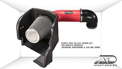 Air Filter intake kit Red 09-17 Compatible with RAM 1500 2500 3500 HEMI ST SXT SLT 5.7L 5.7 V8