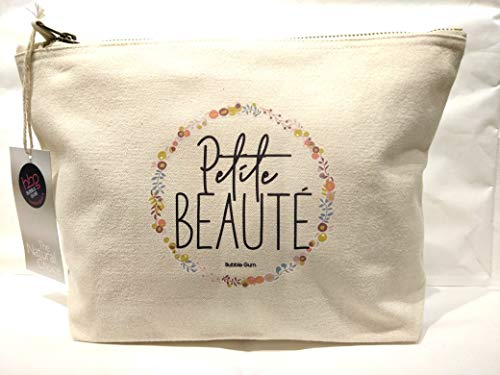 Bubble gum, Trousse M Naturel en Coton Petite beauté 28x17cm