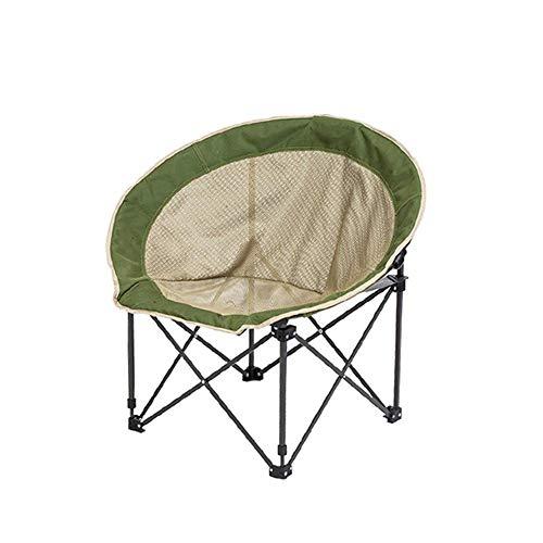 QQXX Klapstoel, camping, grote volwassene maanstoel, zonnestoel, regiestoel, radarstoel, verstelbare klapstoel, rondstuk, sofastoel, luier stoel