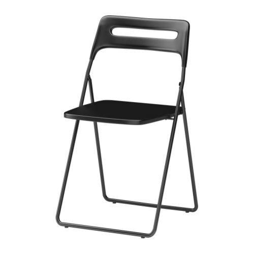 NISSE - Silla plegable, color negro