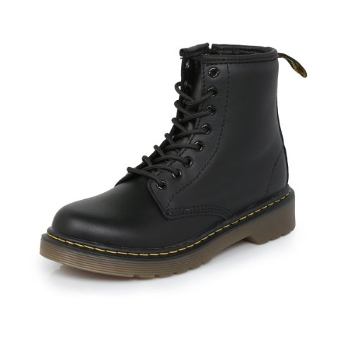 Dr. Martens Kid's Collection 1460 Junior Delaney Boot (Little Kid/Big Kid) Black Softy T 3 UK (US 4 Big Kid)