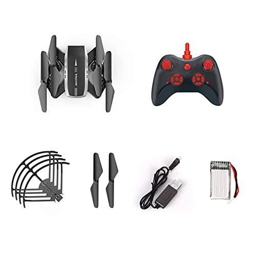 1 Set Folding Drone 4K Groothoek Luchtfotografie Wifi Zonder Camera zwart